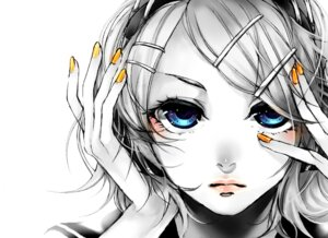 Rating: Safe Score: 10 Tags: akiakane kagamine_rin migikata_no_chou_(vocaloid) monochrome vocaloid User: charunetra