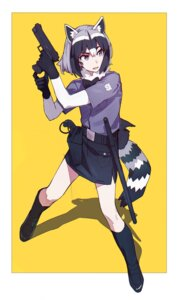 Rating: Safe Score: 25 Tags: animal_ears common_raccoon gun kamameshi_gougoumaru kemono_friends tail weapon User: nphuongsun93
