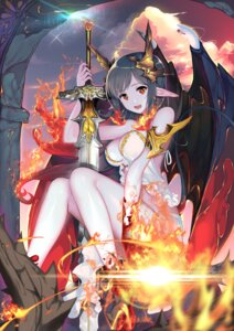 Rating: Safe Score: 50 Tags: aowltus209 cleavage horns pointy_ears sword wings User: Mr_GT