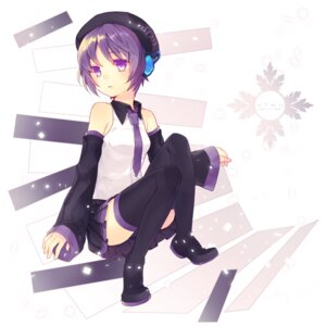 Rating: Safe Score: 13 Tags: defoko headphones renta thighhighs utau User: charunetra