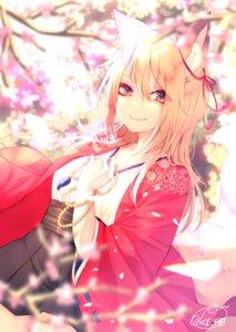 Rating: Safe Score: 31 Tags: animal_ears chita_(ketchup) japanese_clothes kitsune signed tail User: RyuZU