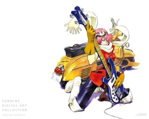 Rating: Safe Score: 15 Tags: flcl guitar haruhara_haruko sadamoto_yoshiyuki wallpaper User: Radioactive