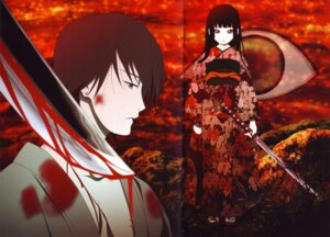 Rating: Safe Score: 11 Tags: blood crease enma_ai ichimoku_ren jigoku_shoujo kimono oka_mariko screening sword User: KOS-MOS