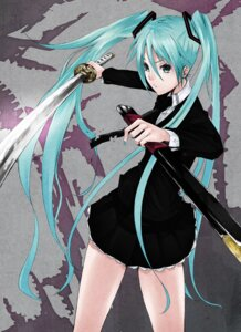 Rating: Safe Score: 14 Tags: hatsune_miku mille sword vocaloid User: yumichi-sama
