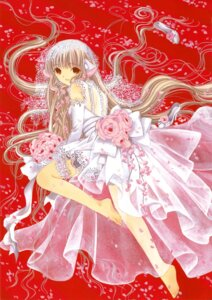 Rating: Safe Score: 18 Tags: chii chobits clamp dress feet garter wedding_dress User: Share