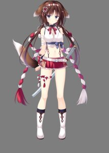 Rating: Safe Score: 26 Tags: animal_ears cleavage inumimi japanese_clothes neko-nin_exheart_3 nekozuka_shino sword tail takano_yuki transparent_png whirlpool User: moonian
