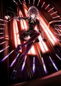 Rating: Safe Score: 55 Tags: izayoi_sakuya tagme_artist_translation thighhighs touhou weapon 右转脑补〇〇〇 User: zero|fade