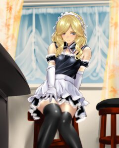 Rating: Safe Score: 51 Tags: k2isu maid thighhighs User: fireattack