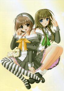 Rating: Safe Score: 8 Tags: arisugawa_yui lovely_idol nekoya_miu nishimata_aoi seifuku thighhighs User: syaoran-kun