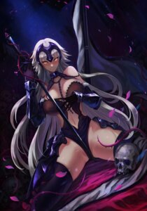 Rating: Questionable Score: 52 Tags: armor cleavage fate/grand_order jeanne_d'arc jeanne_d'arc_(alter)_(fate) karasu_kame_ex sword thighhighs User: Mr_GT