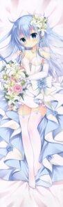 Rating: Safe Score: 38 Tags: cleavage dakimakura dress hibiki_(kancolle) kantai_collection milk_bar no_bra shirogane_hina stockings thighhighs verniy_(kancolle) wedding_dress User: DDD