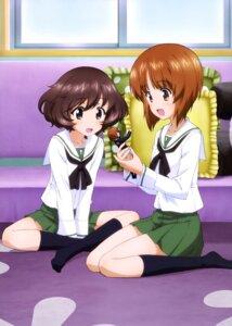 Rating: Safe Score: 19 Tags: akiyama_yukari girls_und_panzer nishizumi_miho seifuku User: drop
