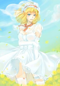 Rating: Safe Score: 20 Tags: abig33 alice_margatroid cleavage dress stockings thighhighs touhou wedding_dress User: itsu-chan