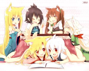 Rating: Safe Score: 33 Tags: animal_ears kitsune naomi_(sekai_no_hate_no_kissaten) nekomimi tail User: 椎名深夏