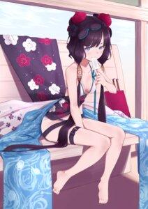 Rating: Safe Score: 10 Tags: bikini cleavage fate/grand_order garter jilu katsushika_hokusai_(fate/grand_order) swimsuits User: Mr_GT