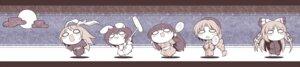 Rating: Safe Score: 11 Tags: animal_ears bunny_ears chibi fujiwara_no_mokou houraisan_kaguya inaba_tewi nekoguruma reisen_udongein_inaba touhou yagokoro_eirin User: Radioactive