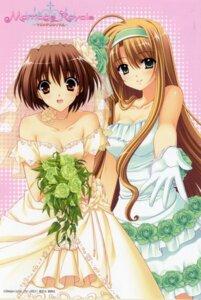 Rating: Safe Score: 26 Tags: bleed_through card cleavage daiba_minato dress marriage_royale nishimata_aoi suzuhira_hiro umeda_minami wedding_dress User: Share