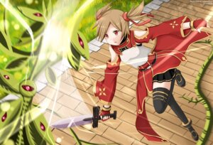 Rating: Questionable Score: 16 Tags: kazenokaze monster silica sword sword_art_online thighhighs User: sylver650