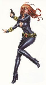 Rating: Safe Score: 53 Tags: black_widow bodysuit cleavage gun yamashita_shunya User: Radioactive