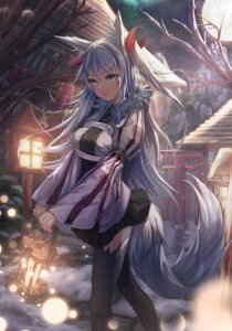 Rating: Safe Score: 3 Tags: animal_ears japanese_clothes tagme tail thighhighs tmtl_aos User: BattlequeenYume