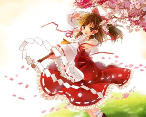 Rating: Safe Score: 17 Tags: funifuni hakurei_reimu touhou wallpaper User: fairyren