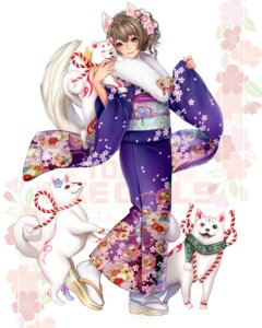 Rating: Safe Score: 22 Tags: animal_ears kimono masami_chie tail tokyo_exe_girls User: Mr_GT