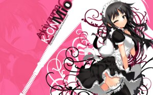 Rating: Safe Score: 55 Tags: akiyama_mio ch@r k-on! maid thighhighs wallpaper User: Radioactive