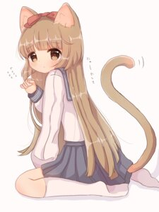Rating: Safe Score: 11 Tags: animal_ears nekomimi roromi seifuku tail the_idolm@ster the_idolm@ster_cinderella_girls yorita_yoshino User: animeprincess