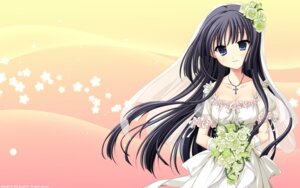 Rating: Safe Score: 46 Tags: applique dress minagami_sakuya odawara_hakone tasogare_no_sinsemilla wallpaper wedding_dress User: van