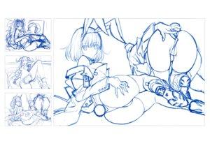 Rating: Questionable Score: 9 Tags: animal_ears ass bunny_ears bunny_girl saitom sketch thighhighs User: Radioactive
