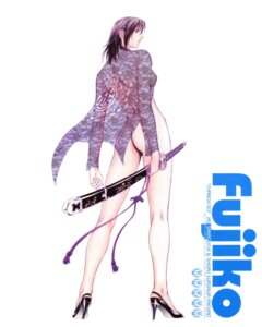 Rating: Questionable Score: 13 Tags: ass bottomless change123 fujiko heels iwasawa_shiuri no_bra open_shirt see_through sword User: Nazzrie