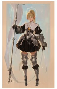 Rating: Safe Score: 12 Tags: armor pointy_ears tagme thighhighs weapon User: Radioactive