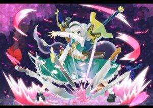 Rating: Safe Score: 9 Tags: hashiro konpaku_youmu sword touhou User: Mr_GT