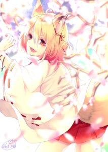 Rating: Safe Score: 26 Tags: animal_ears chita_(ketchup) japanese_clothes kitsune signed tail User: Mr_GT
