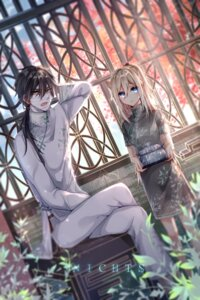 Rating: Safe Score: 20 Tags: asian_clothes bandages chinadress isaac_foster nichts rachel_gardner satsuriku_no_tenshi User: charunetra