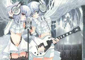 Rating: Safe Score: 30 Tags: garter_belt guitar hato_no_tamago headphones rami stockings thighhighs User: petopeto