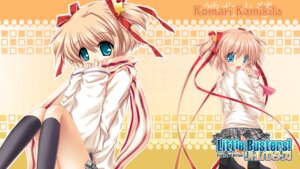 Rating: Safe Score: 8 Tags: hinoue_itaru kamikita_komari key little_busters! seifuku skirt_lift sweater wallpaper User: marechal