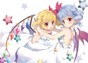 Rating: Safe Score: 19 Tags: beni_kurage dress flandre_scarlet pointy_ears remilia_scarlet touhou wings User: RyuZU