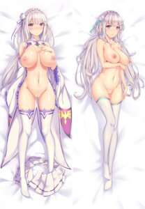 Rating: Explicit Score: 115 Tags: bottomless breast_hold breasts dakimakura emilia_(re_zero) naked nipples no_bra open_shirt pointy_ears pussy re_zero_kara_hajimeru_isekai_seikatsu sgt-jz thighhighs uncensored User: Mr_GT