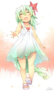 Rating: Safe Score: 29 Tags: dress ex_keine horns kamishirasawa_keine kokka_han summer_dress tail touhou User: Mr_GT