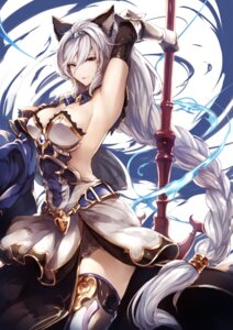 Rating: Questionable Score: 119 Tags: animal_ears armor cleavage dress granblue_fantasy heles kyouya nekomimi no_bra thighhighs weapon User: Mr_GT