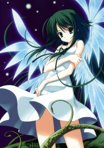 Rating: Safe Score: 39 Tags: dress nanao_naru saya saya_no_uta summer_dress wings User: crim