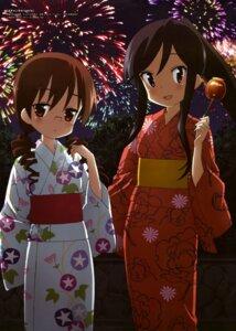 Rating: Safe Score: 33 Tags: a_channel megane nishi_yuuko sasaki_masakatsu tennouji_nagisa yukata User: Jigsy