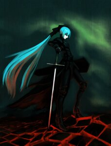 Rating: Safe Score: 17 Tags: armor hatsune_miku kuyama516 sword vocaloid User: charunetra