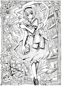 Rating: Safe Score: 6 Tags: alice_margatroid monochrome nobita touhou User: Radioactive