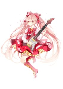 Rating: Safe Score: 29 Tags: fujiwara_no_mokou guitar hammer_(sunset_beach) paana_(artist) touhou User: wildazure