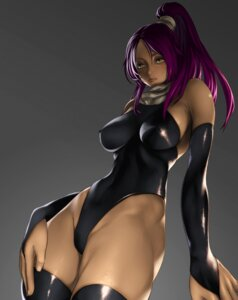 Rating: Questionable Score: 89 Tags: bleach erect_nipples kazakami_yuu leotard shihouin_yoruichi thighhighs User: KiNAlosthispassword