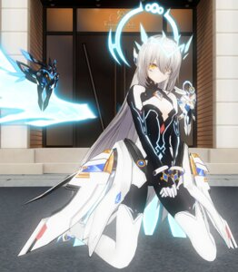 Rating: Questionable Score: 43 Tags: bodysuit cleavage custom_maid_3d_2 elsword eve_(elsword) no_bra tagme thighhighs wings User: kail28391