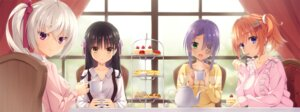 Rating: Safe Score: 25 Tags: akizuki_kanna cafe_stella_to_shinigami_no_chou dress_shirt hiuchidani_mei kobuichi muririn shiki_natsume sumizome_nozomi sweater yuzu-soft User: moonian