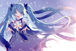 Rating: Safe Score: 74 Tags: dress hatsune_miku mechuragi vocaloid wallpaper yuki_miku User: Mr_GT